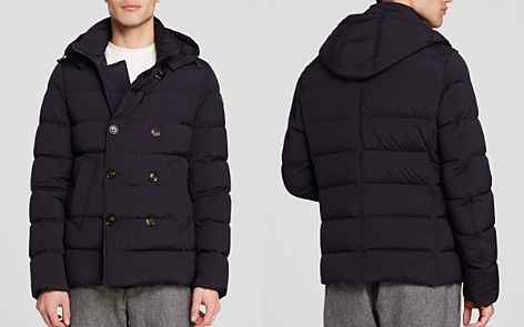 Moncler Loirac Quilted Peacoat