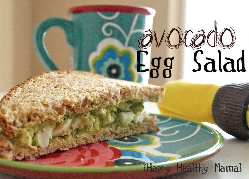 """avocado egg sandwich--made this avocado egg salad for lunch today and used romaine lettuce for the """"bread"""".  So good!"""
