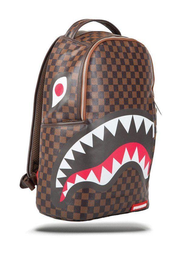 1846031272e Sprayground - Sharks in Paris Backpack - Brown - Accessories - Sprayground  - FRS - 2