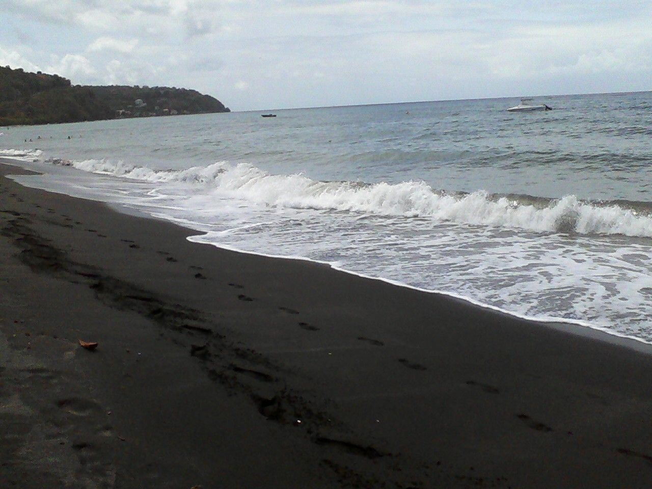 Black sand beach dominica caribbean island leap list for Black sand beach caribbean