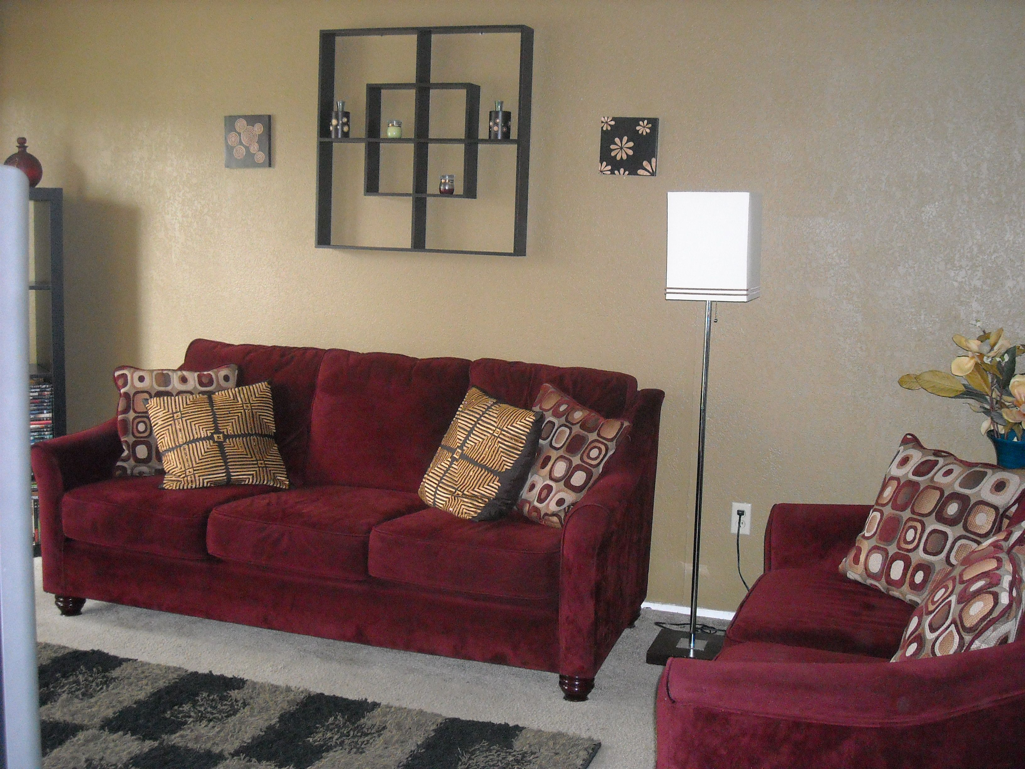 Cranberry Couch And Love Seat
