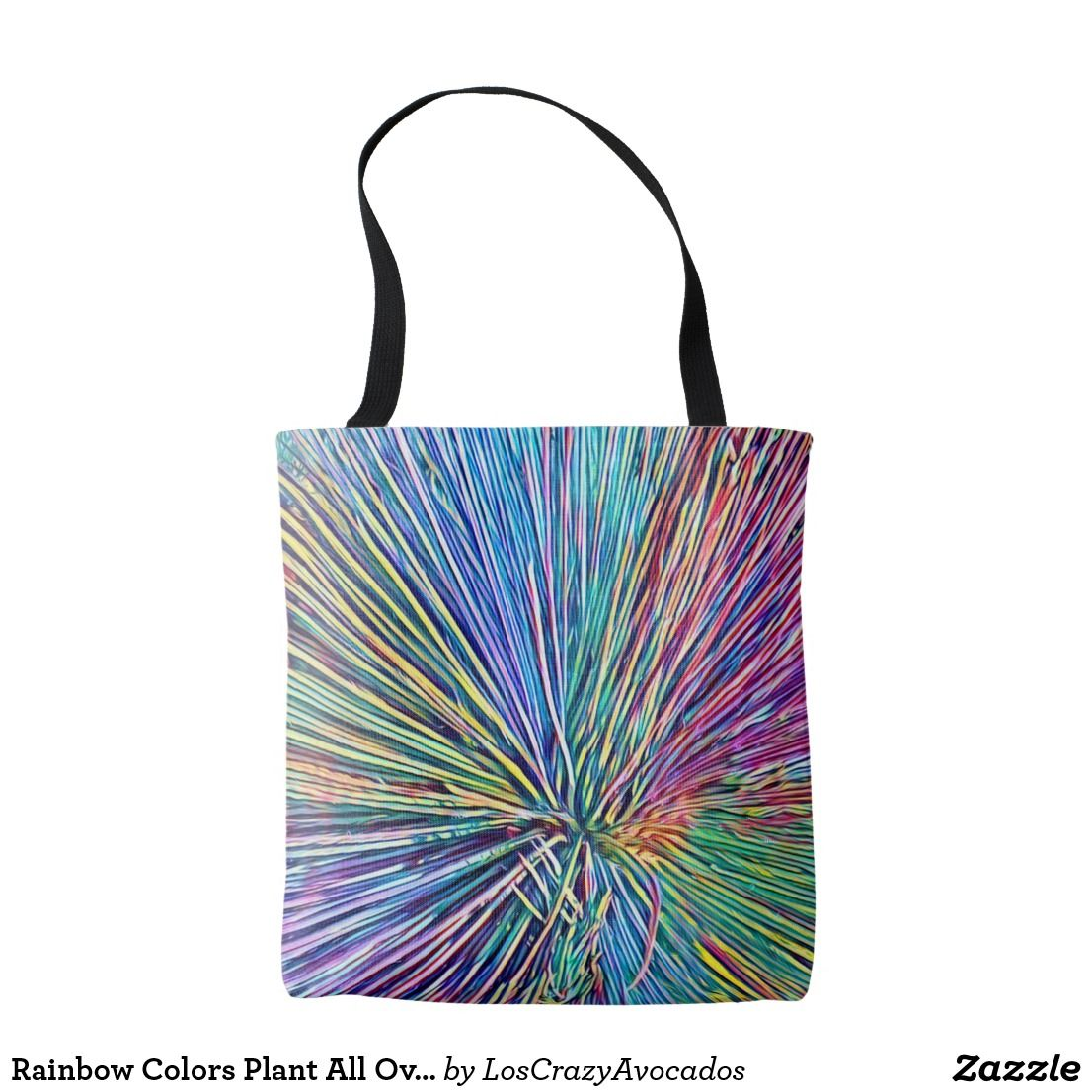 Rainbow Colors Plant All Over Print Tote Bag