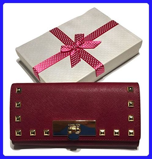 ee05195c12a054 Michael Kors Callie Stud Carryall Clutch Wallet Cherry Saffiano Leather -  Clutches (*Amazon Partner-Link)