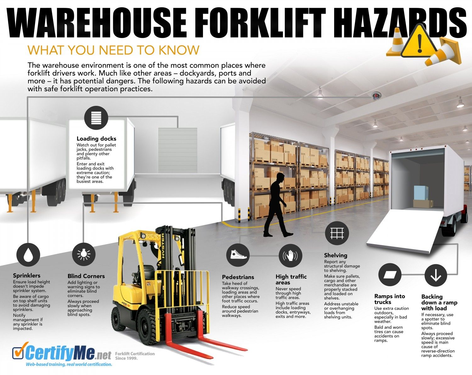 Warehouse Forklift Hazards Infographic Safety Pinterest Safety