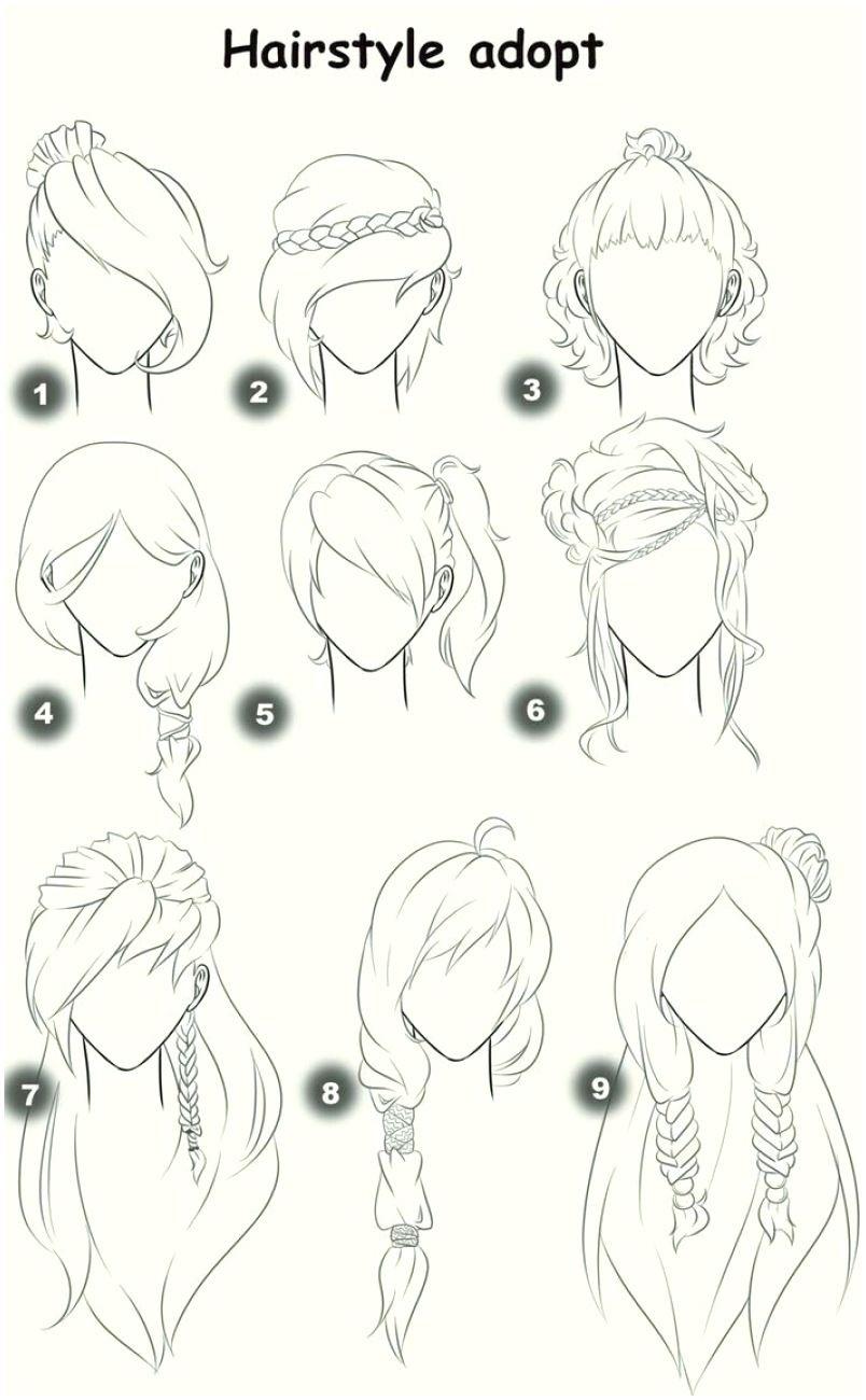 Photo of Anime Girl Hair Drawing At Getdrawings