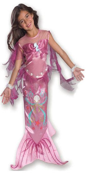 6ed9a6eae0 Pink Mermaid Kids Costume