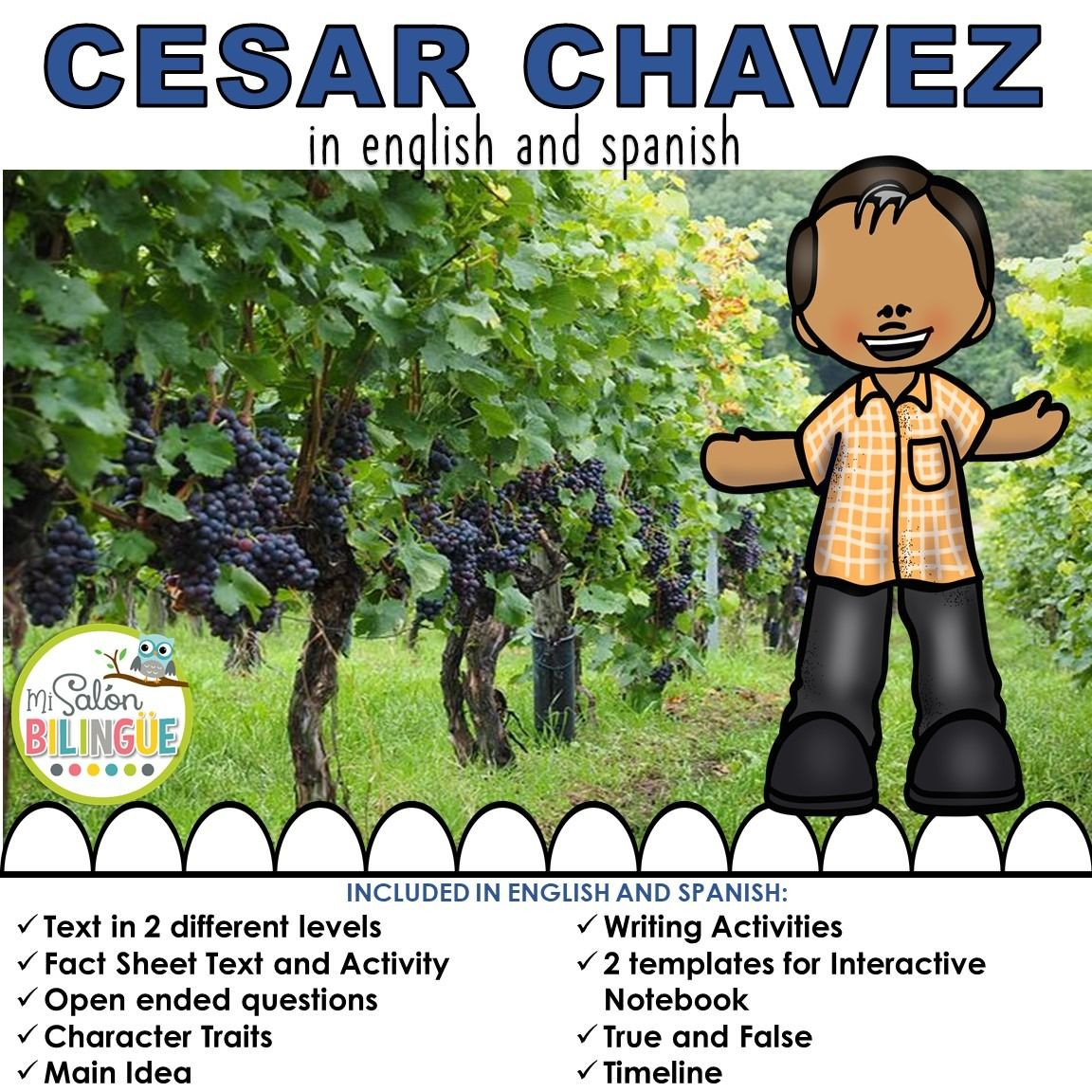 Cesar Chavez In Spanish And English In
