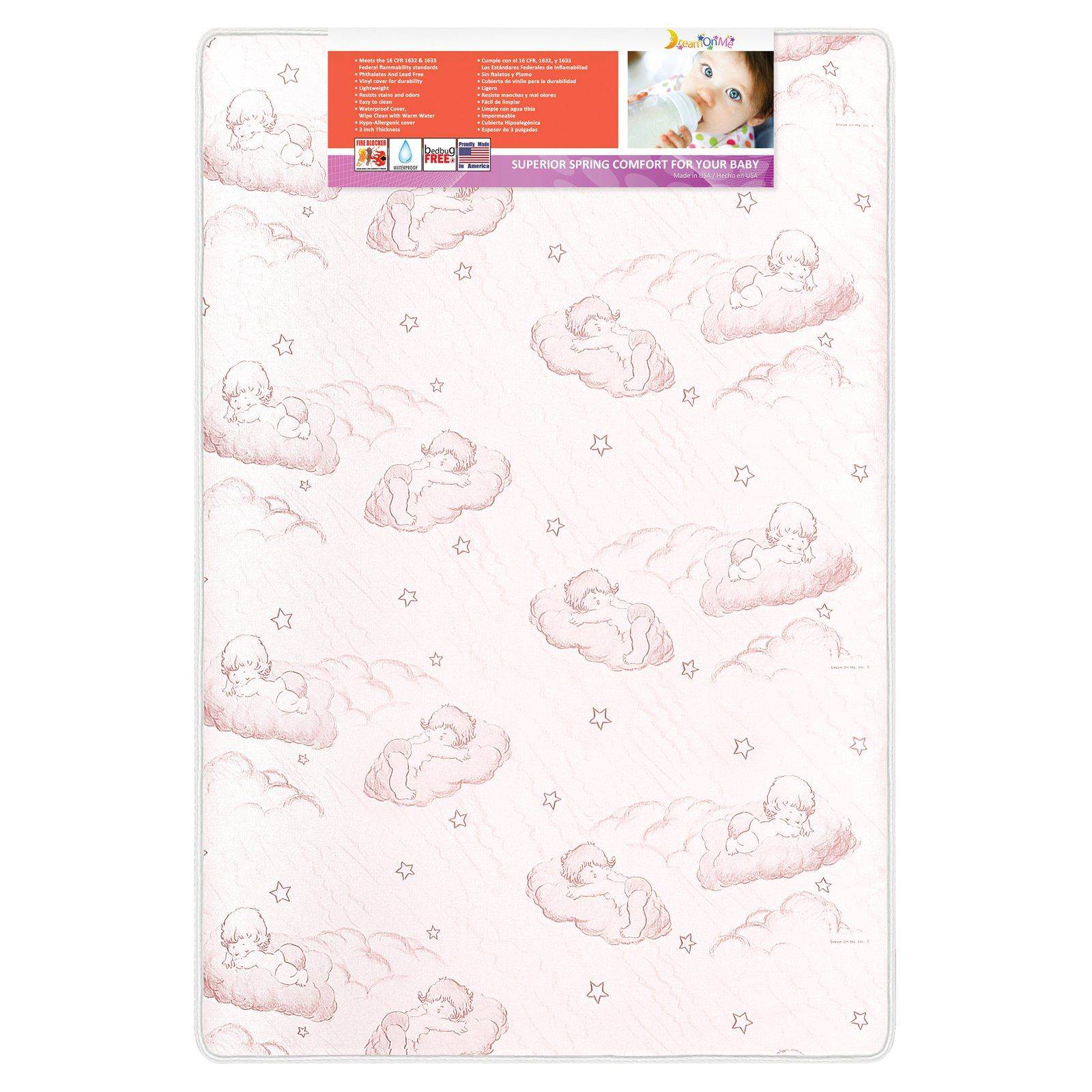 5 in. Spring Coil Portable Crib Mattress by Dream on Me ...