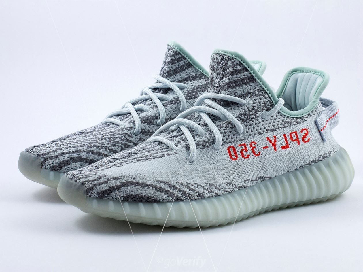 Learn how to spot fake Adidas Yeezy Boost 350 V2 Blue Tints with this  detailed 39 point step-by-step guide by goVerify. 9deee6af2