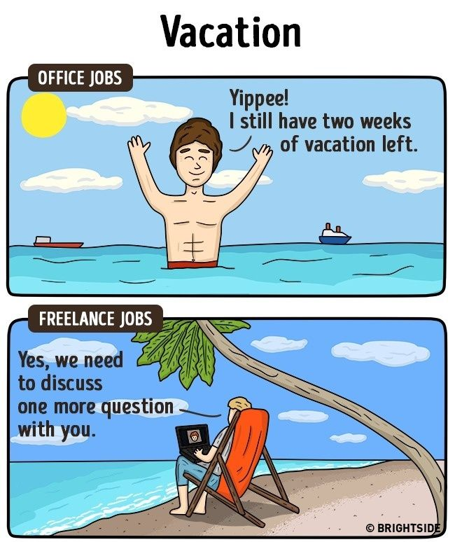 15 brilliant comic strips showing how freelance life is different - jobs that are left