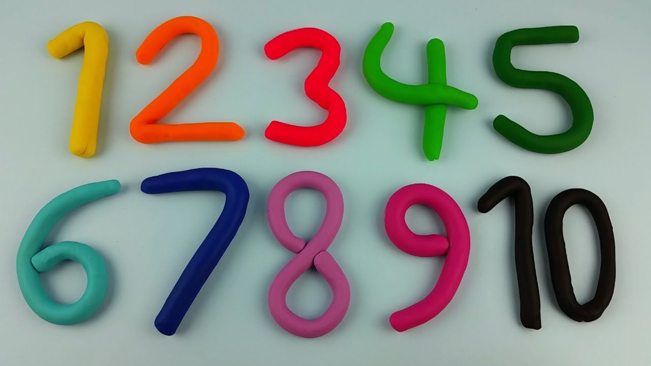 Aprende A CONTAR DEL 1 AL 10 con Números de PLAY DOH!!!