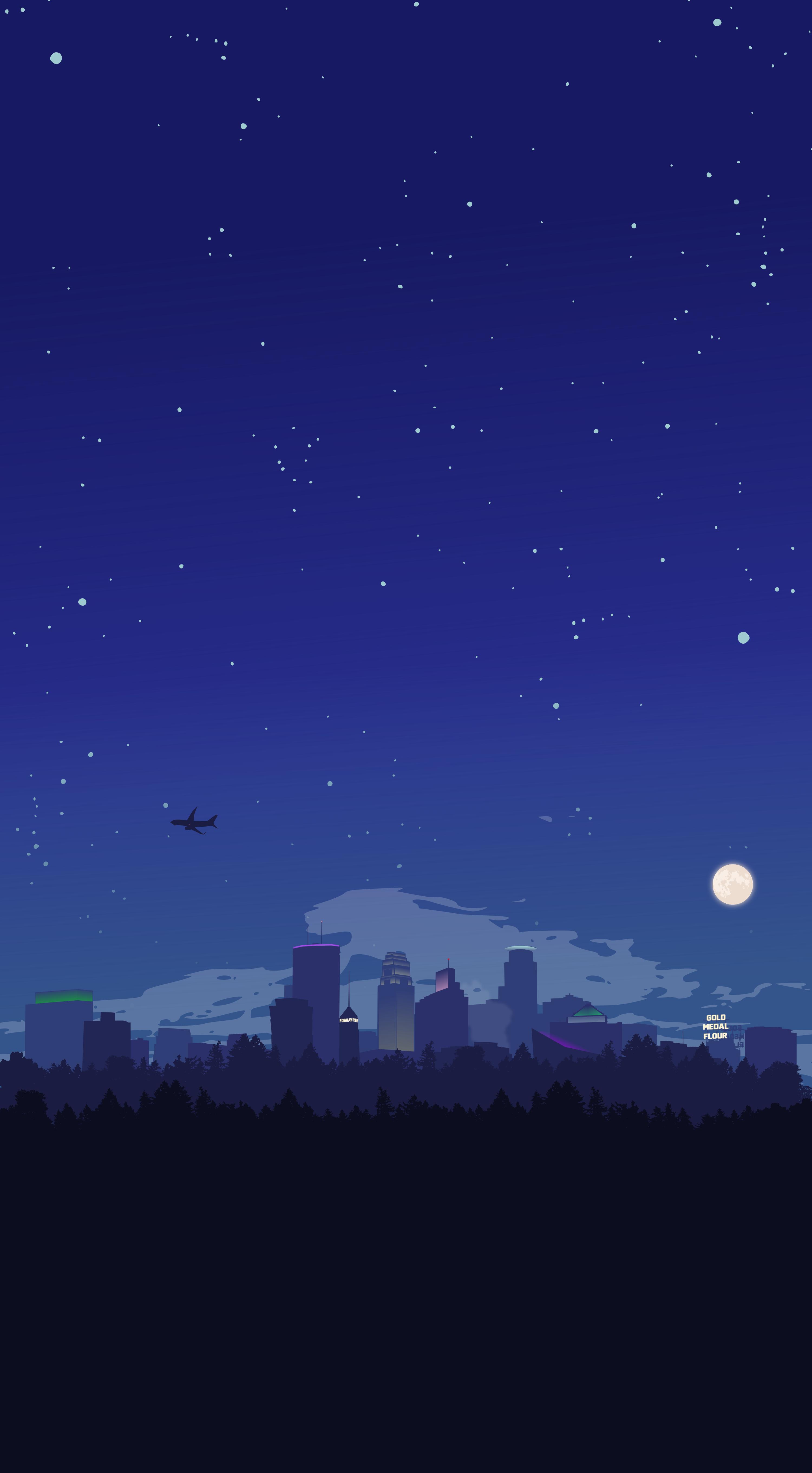 Minneapolis At Night Oc Scenery Wallpaper Anime Scenery Wallpaper Art Wallpaper Iphone
