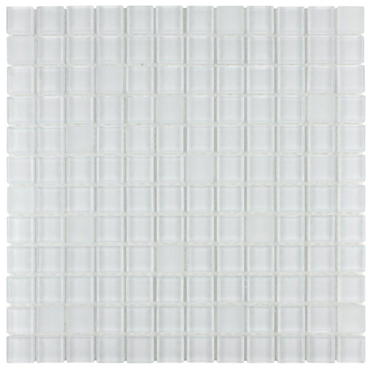 Mineral Tiles Gl Mosaic Tile White Blend 1x1 14 92 Http