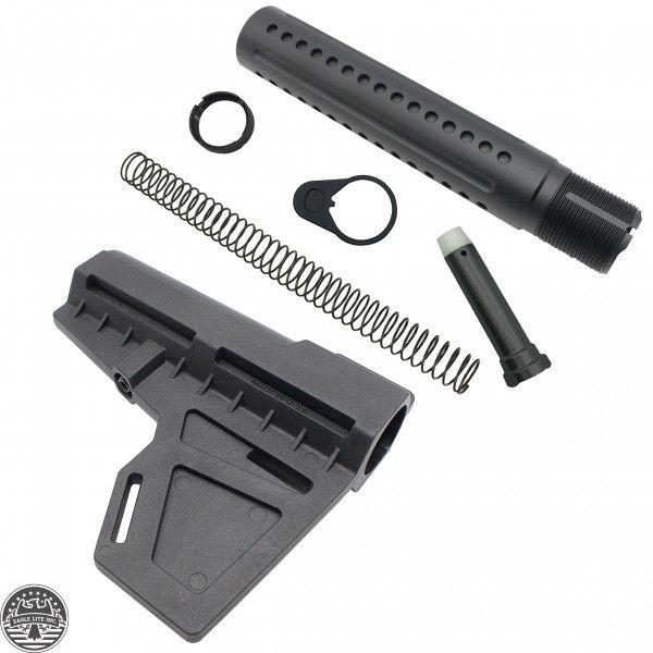 AR-15 Eagle Lite Milled Buffer Tube Kit and KAK Shockwave Blade ...