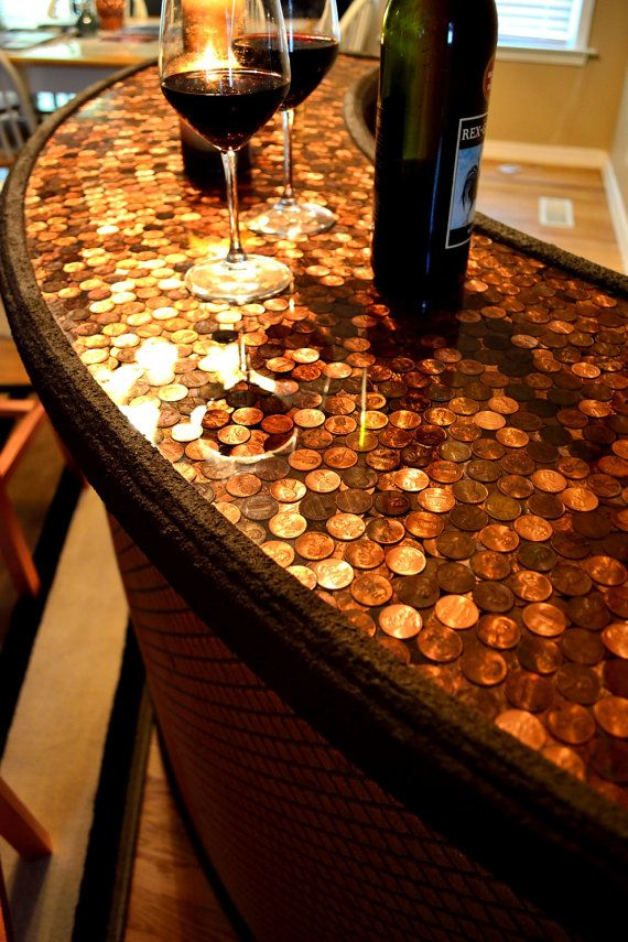 Wine Bar Penny Top Home Bar Serving by TreasureMountainNC