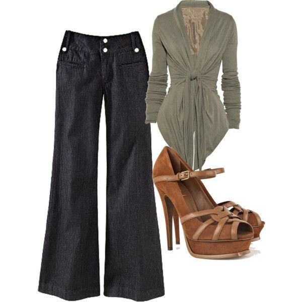 Outfits with Wide Leg Pants | Found on polyvore.com