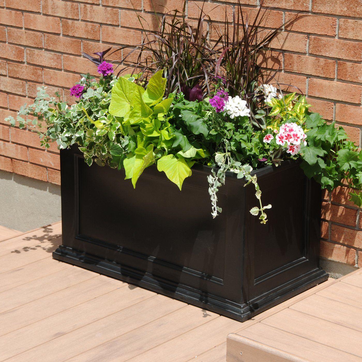 rectangular patio planter
