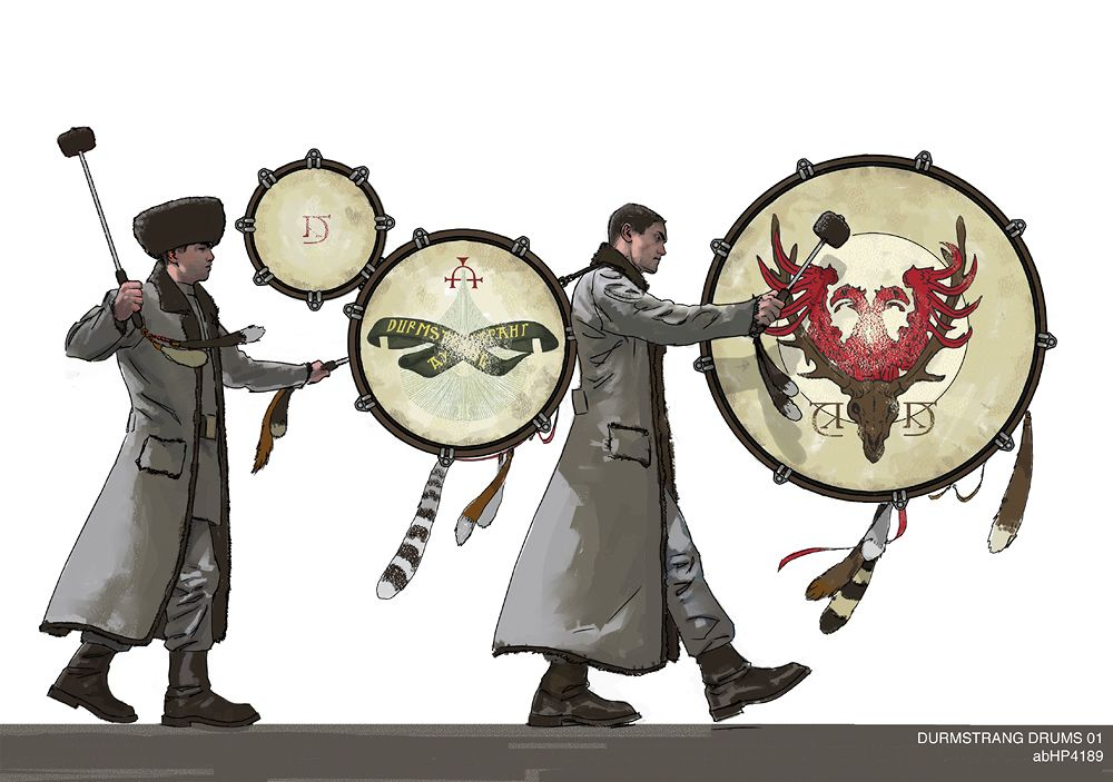 Durm Drum (Harry Potter and the Goblet of Fire) concept art by Adam Brockbank