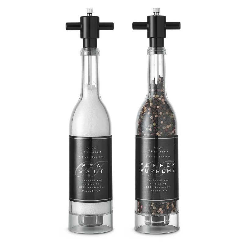 Wine Bottle Salt- & Peberkværn, 37 cm - Olde Thompson - Gense - RoyalDesign.dk