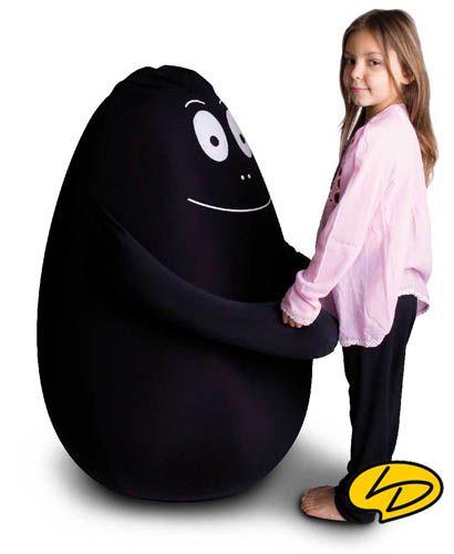 Zitzak Zwart Kind.Barbapapa Xxl Zitzak 100cm Zwart Barbabob Zitzak Zwart