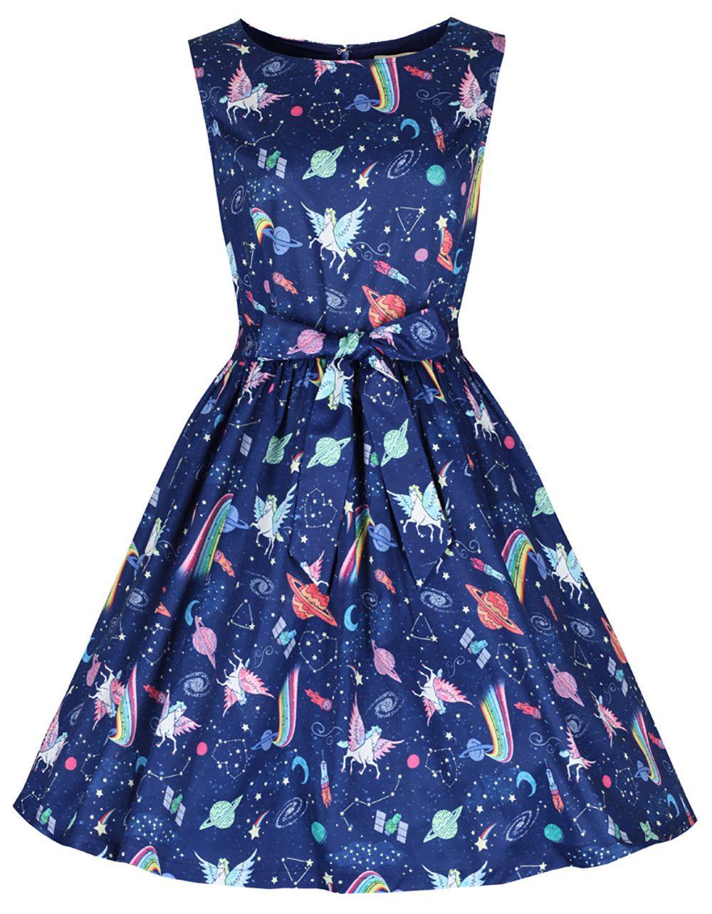 Blues swing cocktail dress