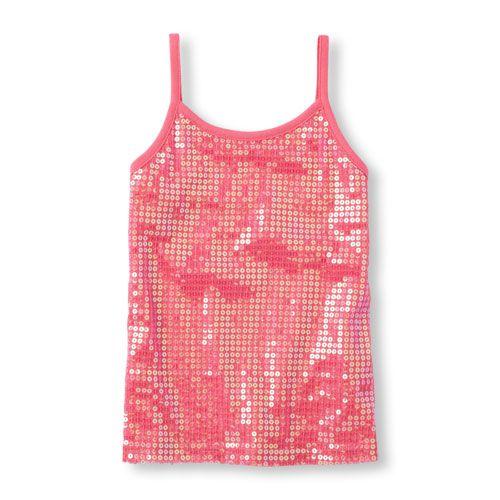 420fdd269 Girls Sleeveless Sequin Tank Top - Pink - The Children's Place ...