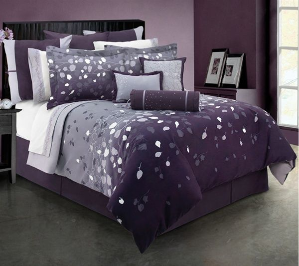 Purple Lavender And Gray Bedroom Pretty Bedroom Bedroom Colors