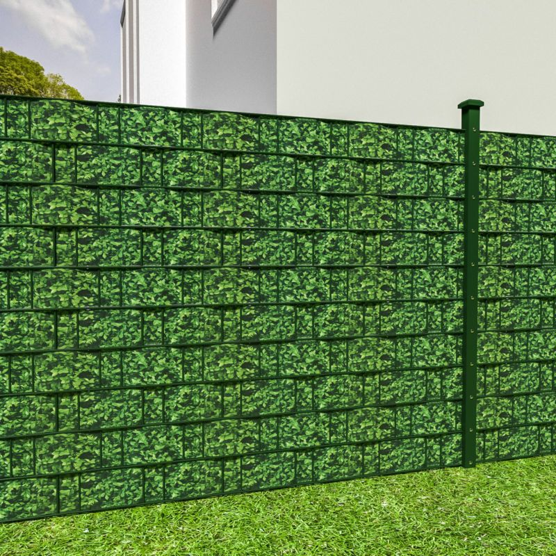 pvc sichtschutz streifen sichtschutzfolie doppelstabmatten zaun schutz 35m buchs alex. Black Bedroom Furniture Sets. Home Design Ideas