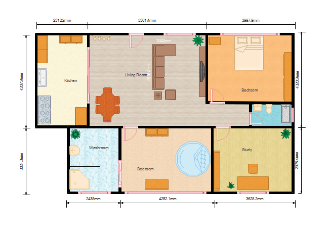 Color Floor Plan