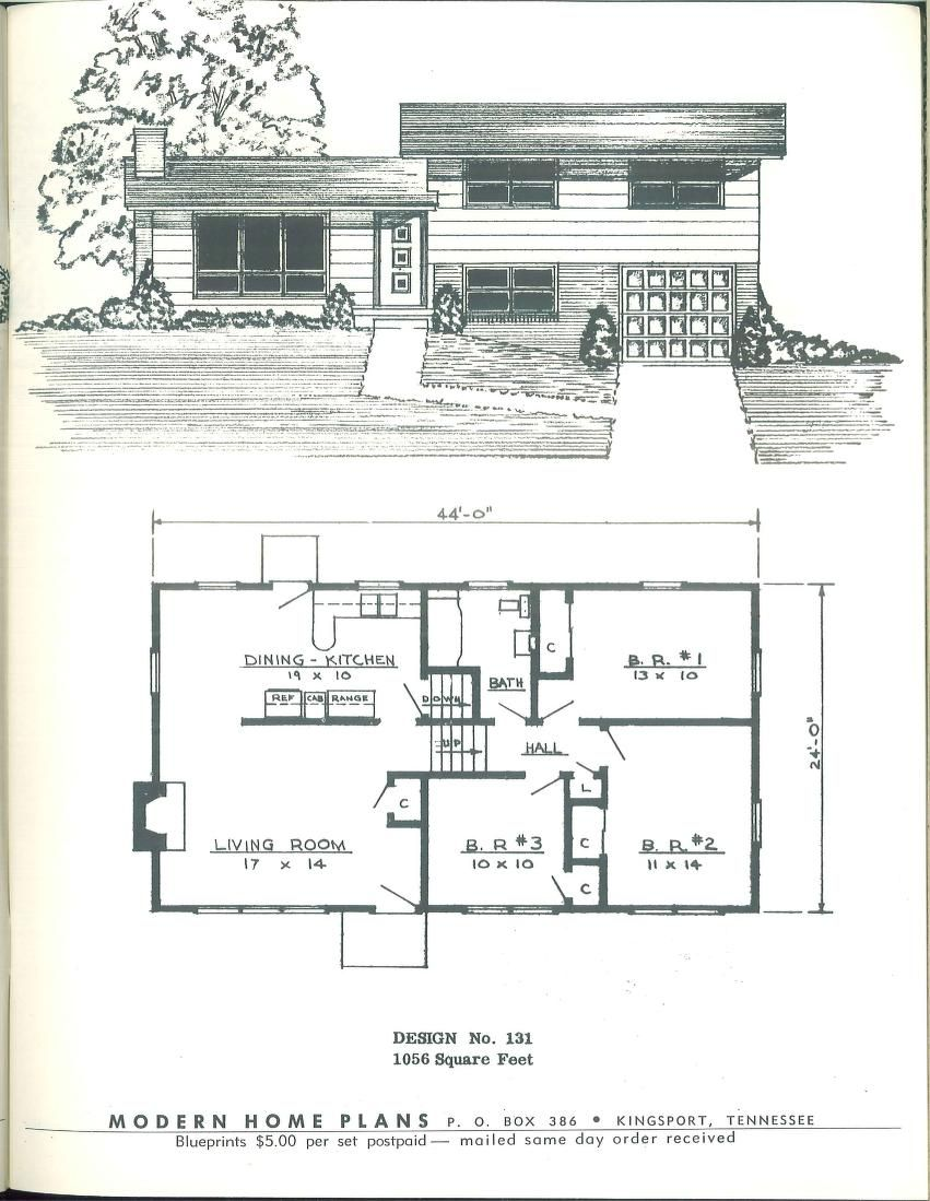 Modern home plans 1955 vintage house plans 1950s for 1950s house plans