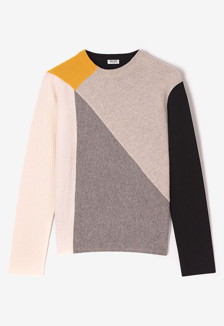 3071f8923384 OFF WHITE Colorblock sweater for men KENZO