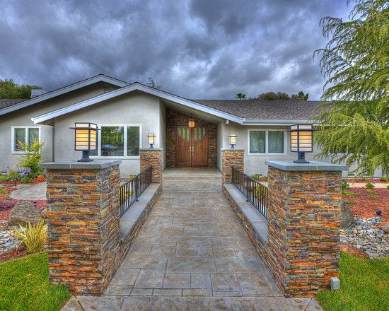 New home construction ideas design pictures remodel for Curb appeal ideas for ranch style homes