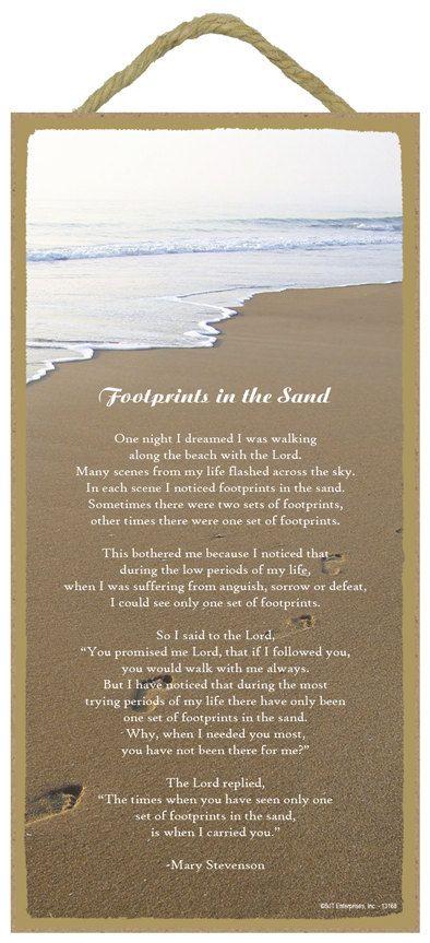 Footprints in the Sand poem 5\