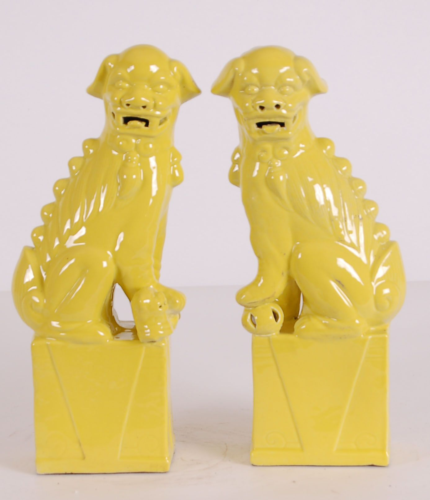 Yellow Foo Dog: Avala And Summerour Lamps