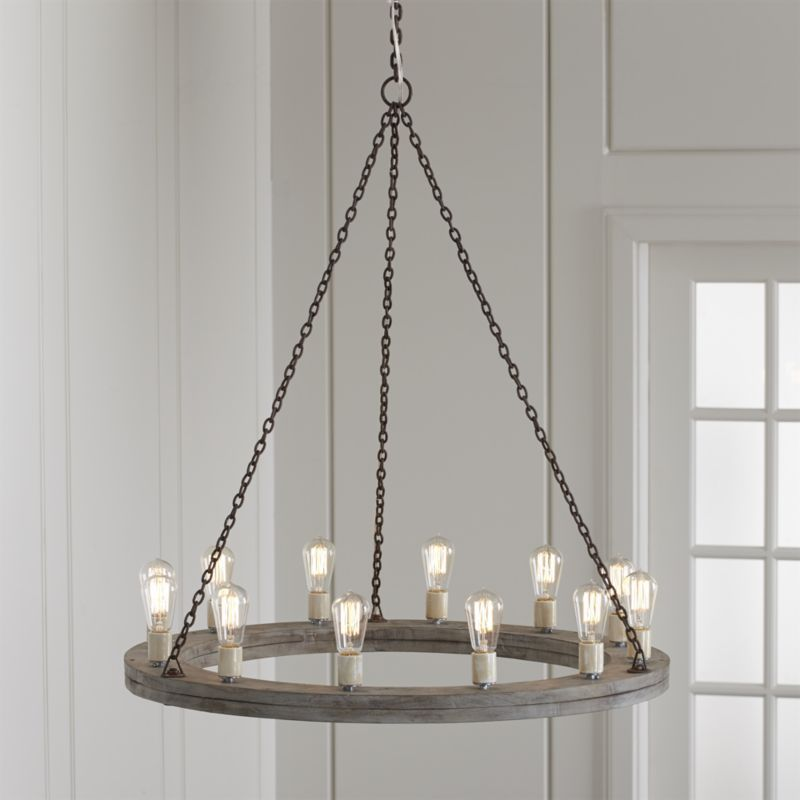 Geoffrey 36 Round Wood Chandelier Reviews Crate And Barrel