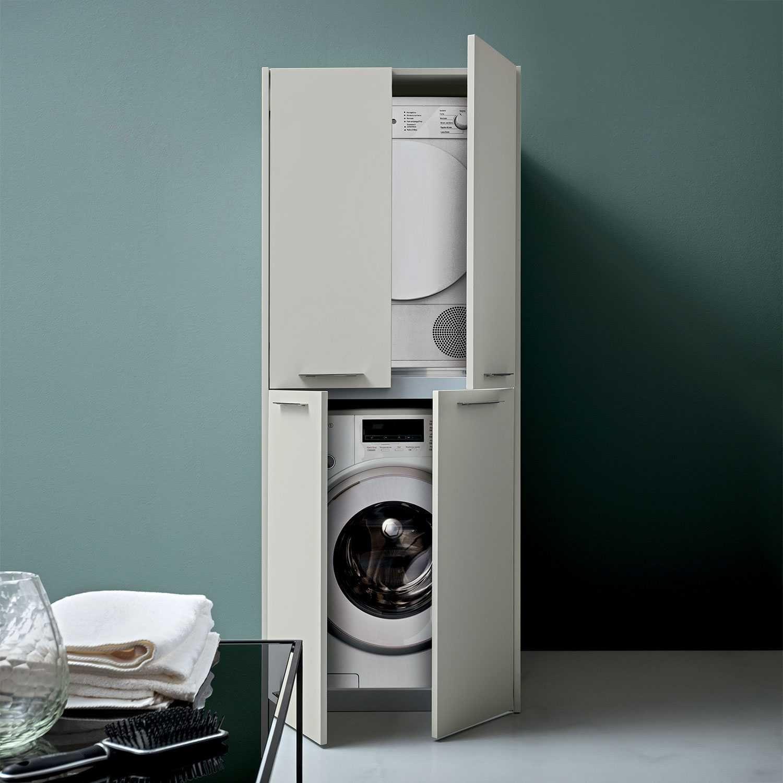 Blizzard Hochschrank Fur Die Waschkuche Trockner Auf Waschmaschine