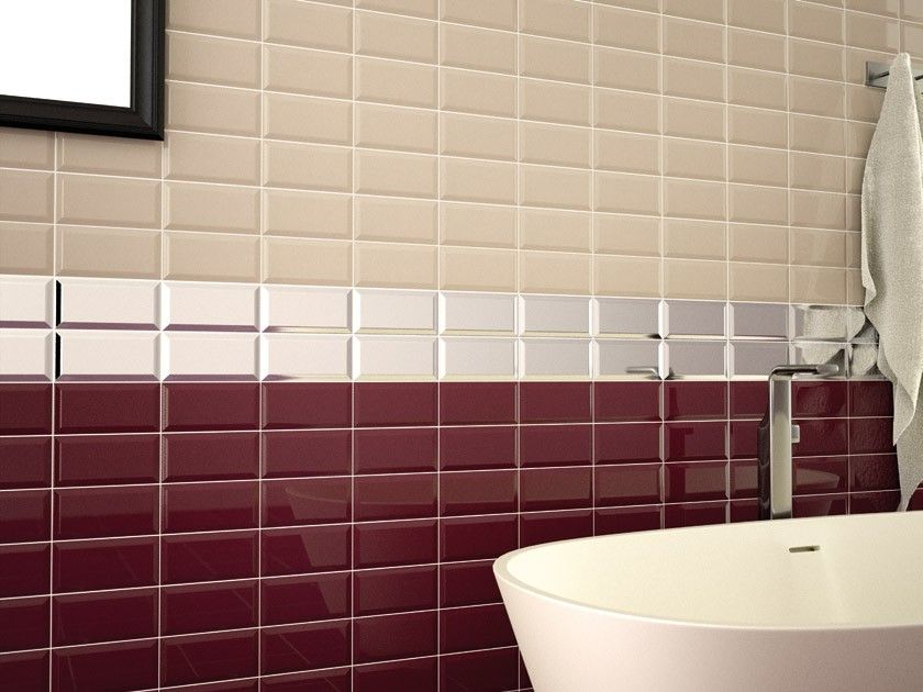 Metro Burgundy Wall Tile 200x100 Tiles Pinterest
