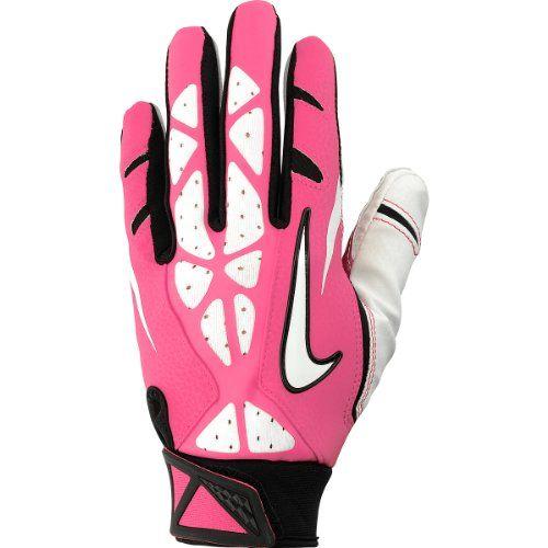 Nike Youth Vapor Jet 2 0 Football Gloves Size Large Pink Nike Http Www Amazon Com Dp B00g6mt63i Ref Cm Sw R P Football Gloves Football Gear Pink Football
