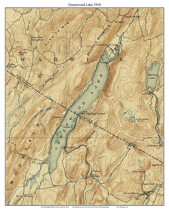 Greenwood Lake 1910 USGS Old Topographical Map Custom Print ... on gps lake maps, aerial lake maps, navionics lake maps, usgs lake maps, best 2014 lake fork tx maps, hume lake california hunting maps, europe lake maps, dnr lake maps, lake contour maps, national geographic maps, tennessee river navigation chart maps, satellite lake maps, texoma topography maps, campground site maps,