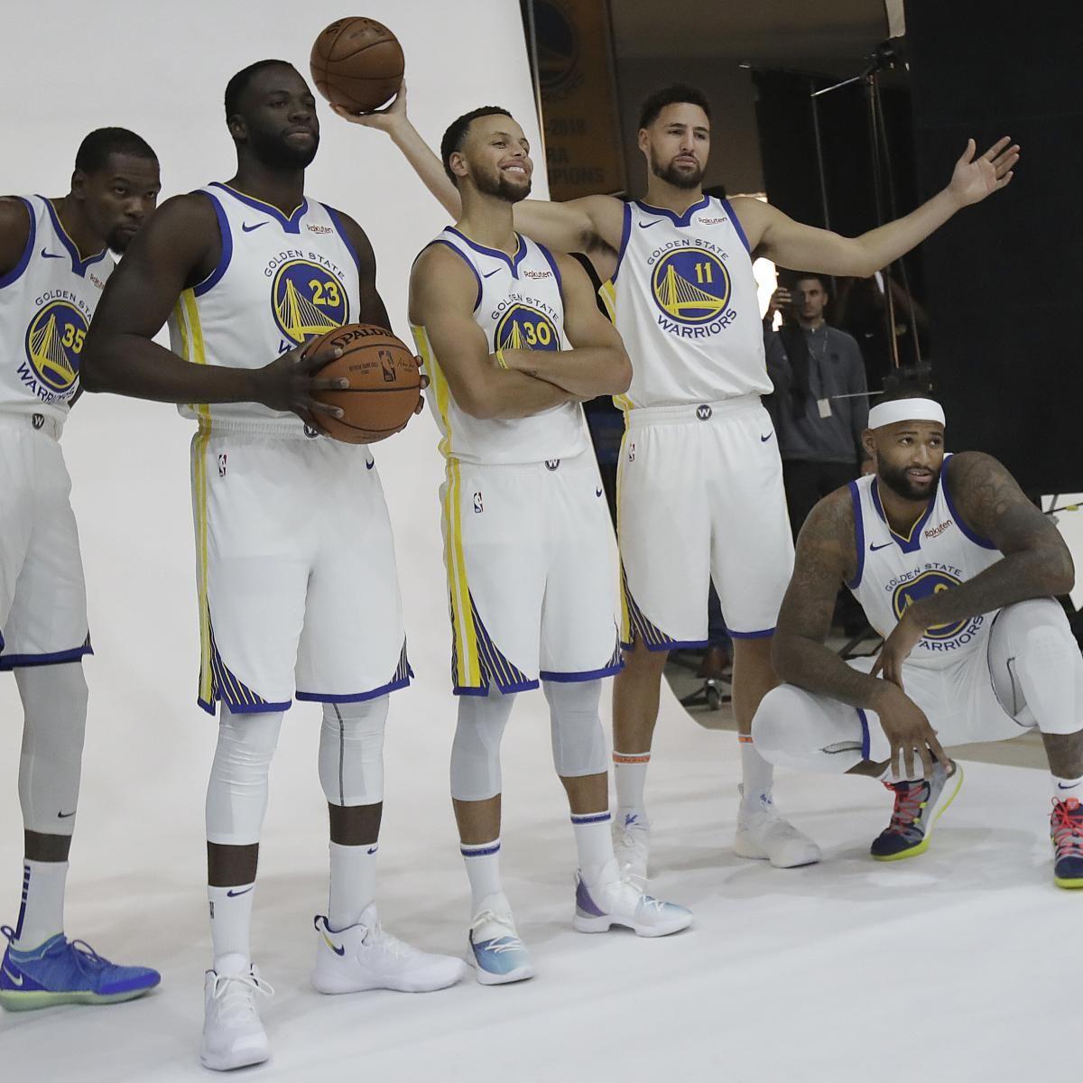 Warriors Media Day 2018 Stephen Curry Demarcus Cousins Interviews Video More Golden State Warriors Basketball Nba Golden State Warriors Basketball Highlights
