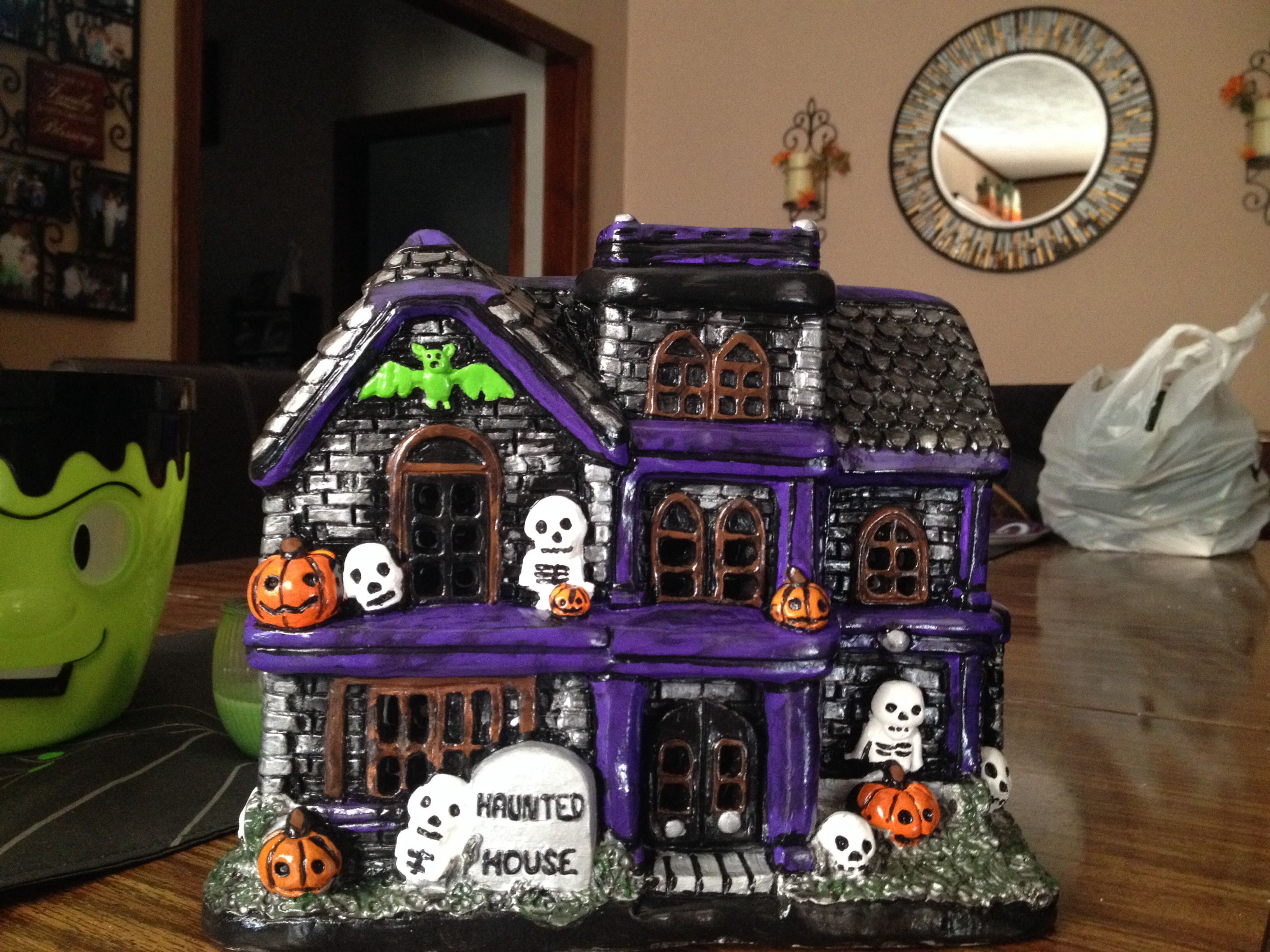 Haunted house diy ceramics i have painted pinterest for Ceramic house paint