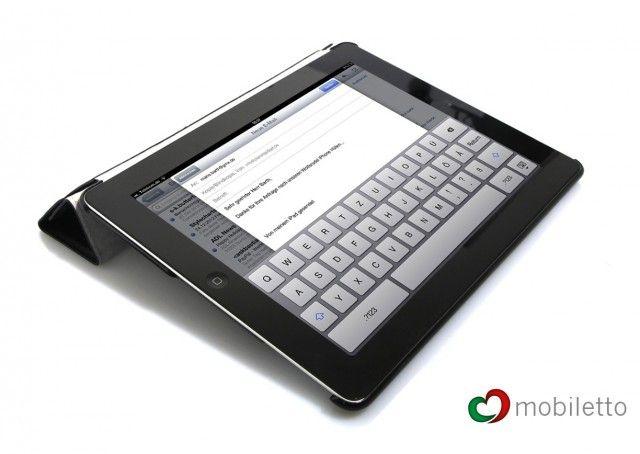 Italienischer Chic für´s iPad. Mobiletto iPad LUXUS Business SmartCover Ledercase - Schwarz