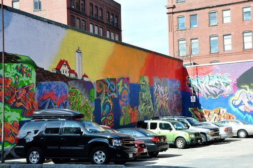 Colors And Flatbread Building Art Graffiti Wall Favorite City