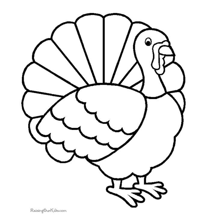 Print a Free Turkey Coloring Page for the Kids to Color | Raising ...