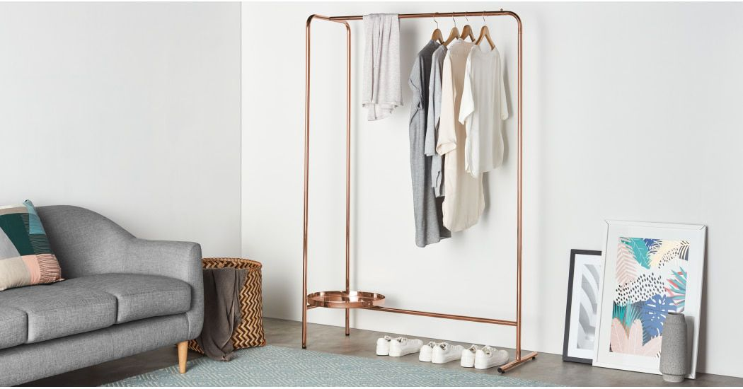 Alana Hanging Rail, Copper | MADE.com