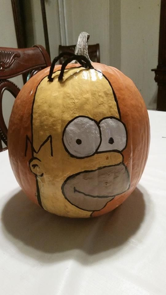 Homer simpson pumpkin i painted pumpkin pumpkin pinterest homer simpson pumpkin i painted pronofoot35fo Image collections