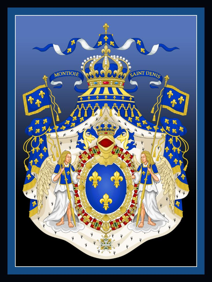 King Louis Xiii Of France Grand Royal Coat Of Arms Of The