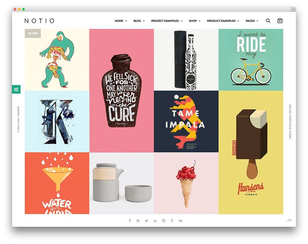 Notio Deluxe Portfolio Theme Portfolio Examples Minimal And