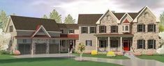 4 Bed House Plan With Angled Garage with Bonus Room