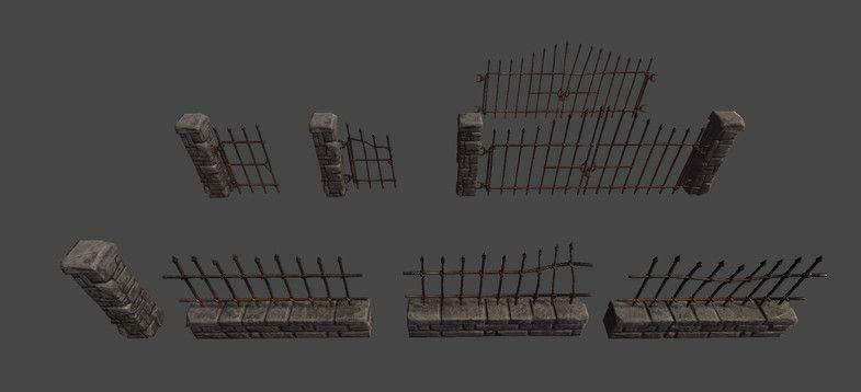 Stone Fence and Gates